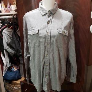 Woolrich Shirts - Gray WOOLRICH Longsleeve Buttondown Shirt Large